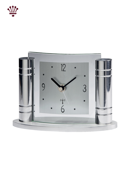 greek-mantel-clock-chrome